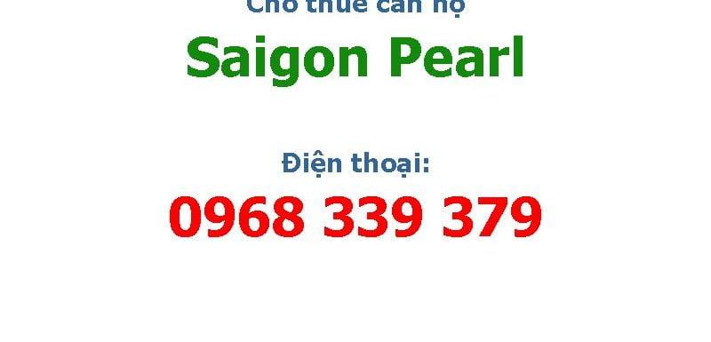 Cho thuê căn hộ Saigon Pearl 1 2 3 4 phòng ngủ