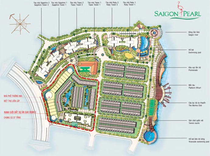 Dự án Saigon Pearl giai đoạn 3