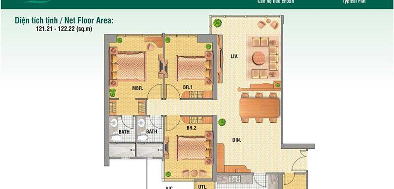 Cho thuê hoặc bán căn hộ Saigon Pearl 3 Phòng Ngủ