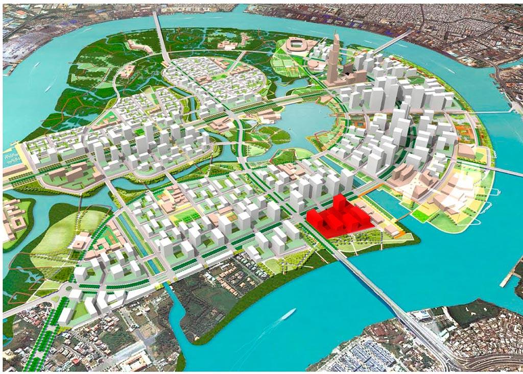 Vị trí dự án Thủ Thiêm River Park tại khu đô thị Thủ Thiêm