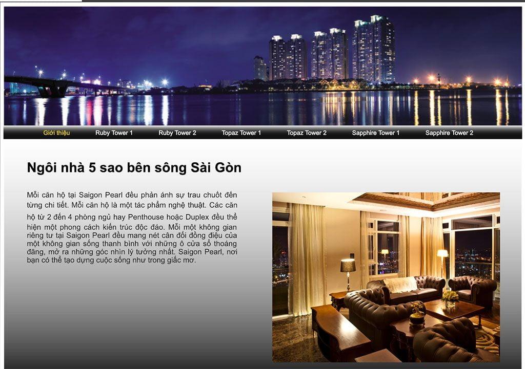 Website dự án Saigon Pearl