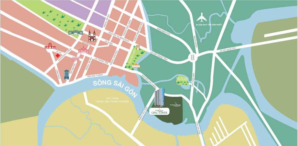 Location of Saigon Pearl project