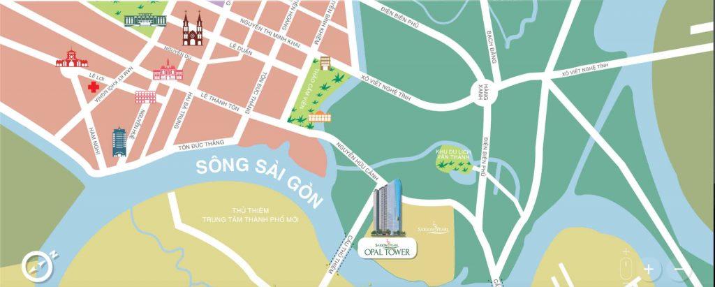 Vị trí dự án Saigon Pearl nằm ở đâu?