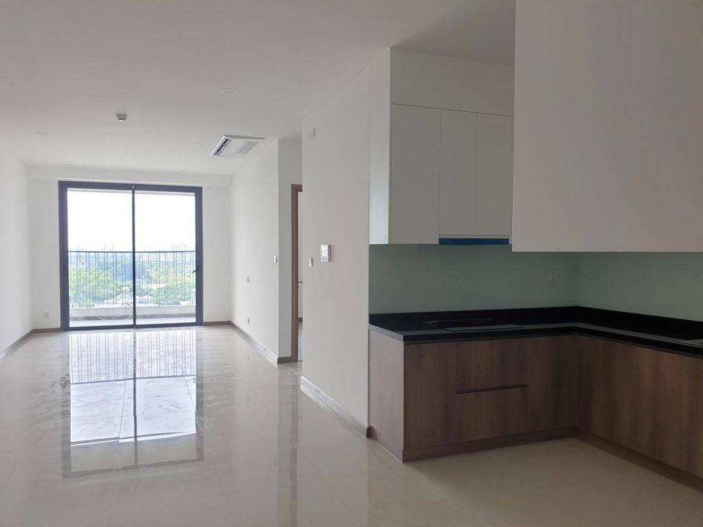 Phòng khách căn hộ 3 phòng ngủ tòa Opal Saigon Pearl