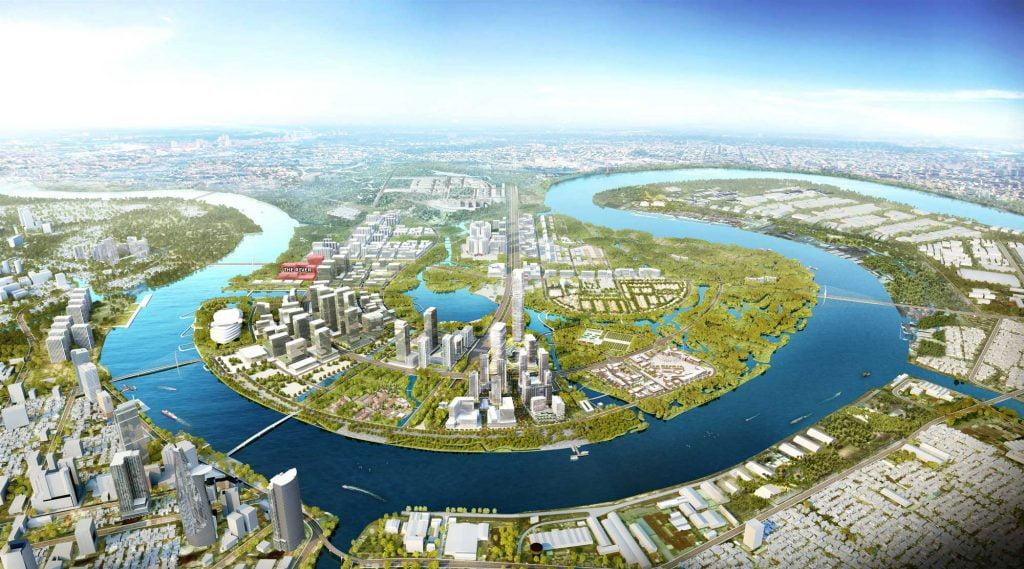 Vị trí dự án The River Thủ Thiêm trong khu đô thị mới Thủ Thiêm Quận 2